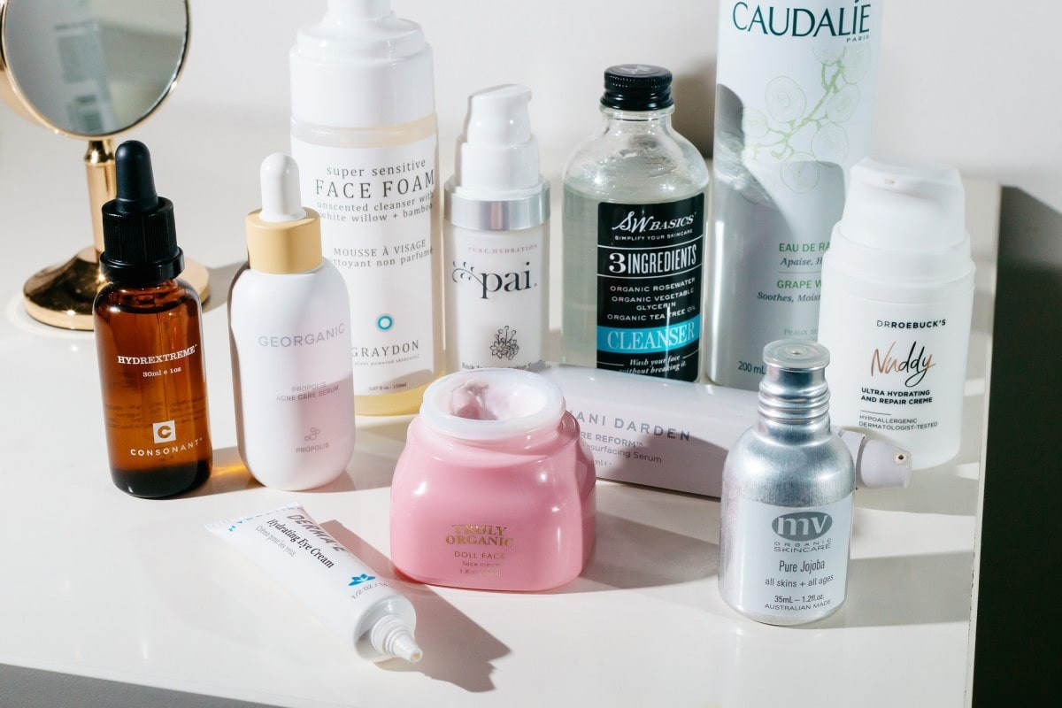 array of products for sensitive and acne-proneskin.