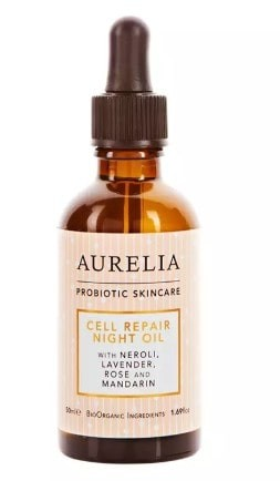 Vegan Friendly: aurelia cell repair night oil bottle.