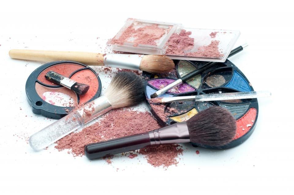 broken expired makeup.