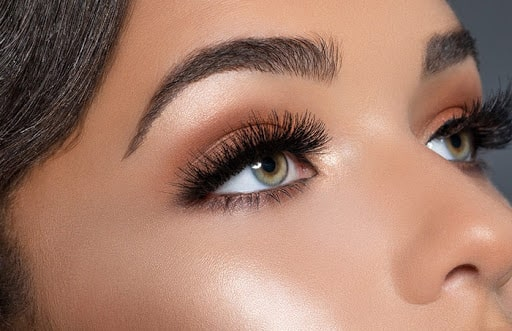 ardell lashes on models eyes