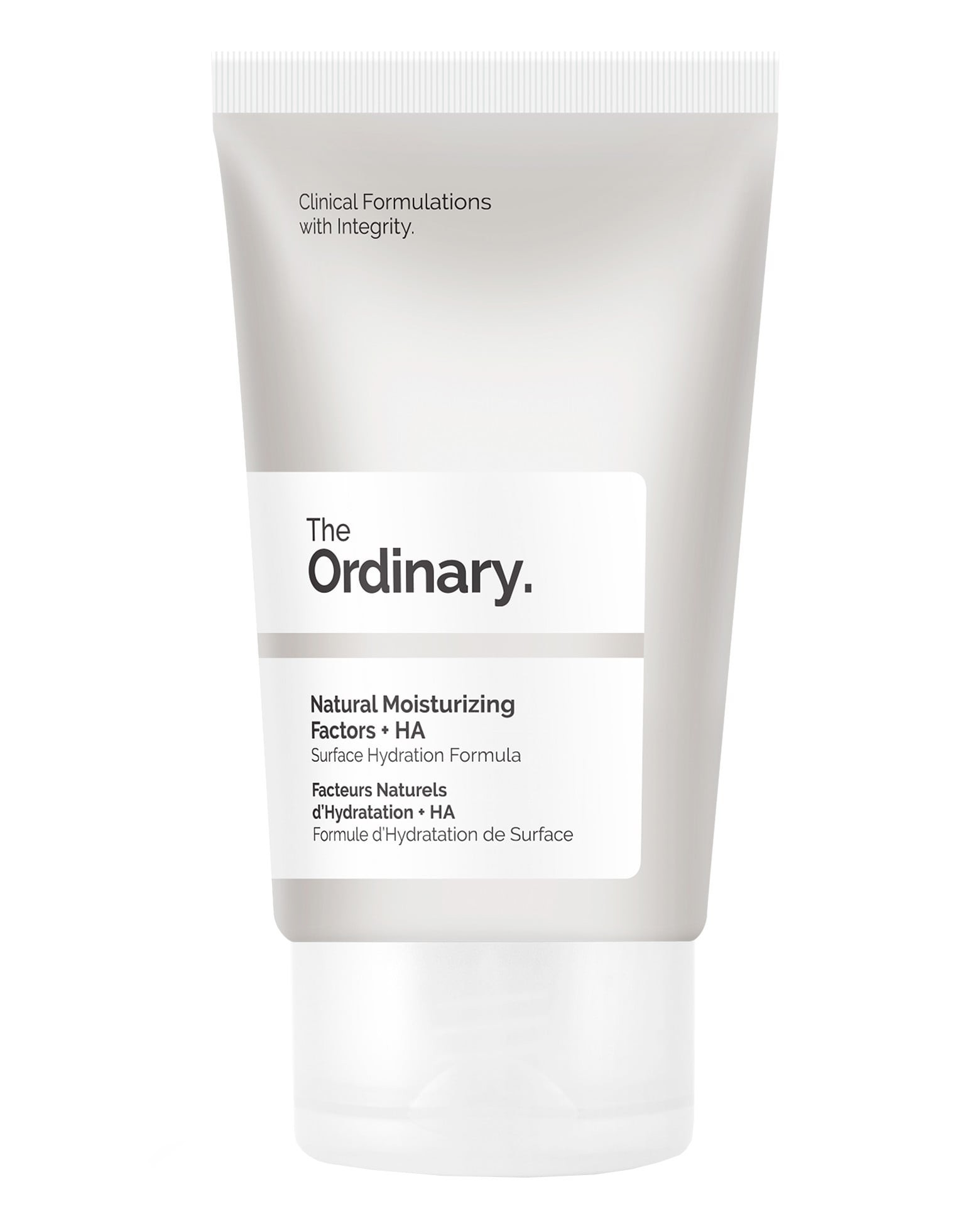 the Ordinary Moisturising Factors cream, pictured in packaging tube.