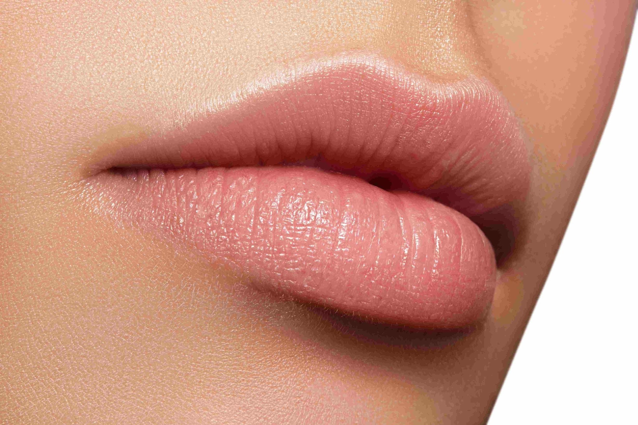 close up picture of a persons lips.