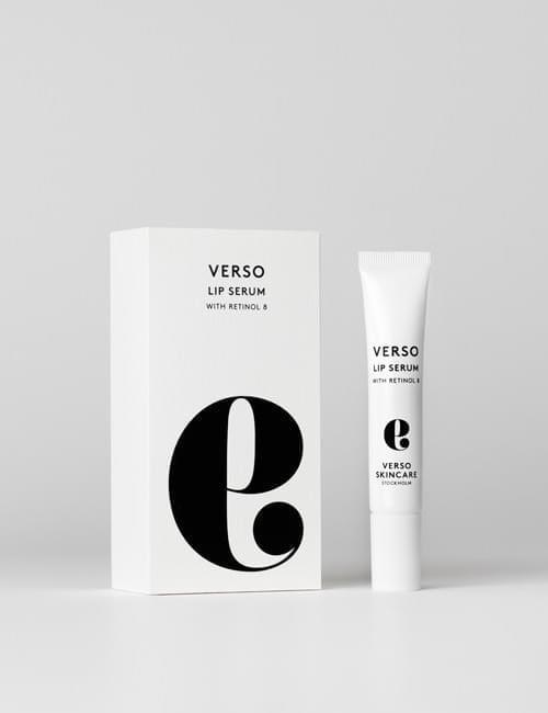 verso lip serum with packaging.