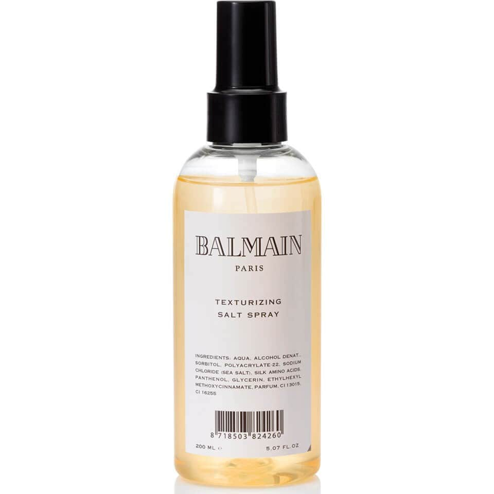 balmain paris texturising salt spray for hair.