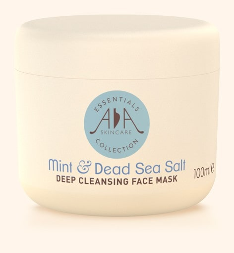 mint and dead sea salt deep cleansing face mask.