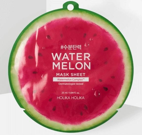 Beauty Products: Holika Holika Watermelon Sheet Mask.