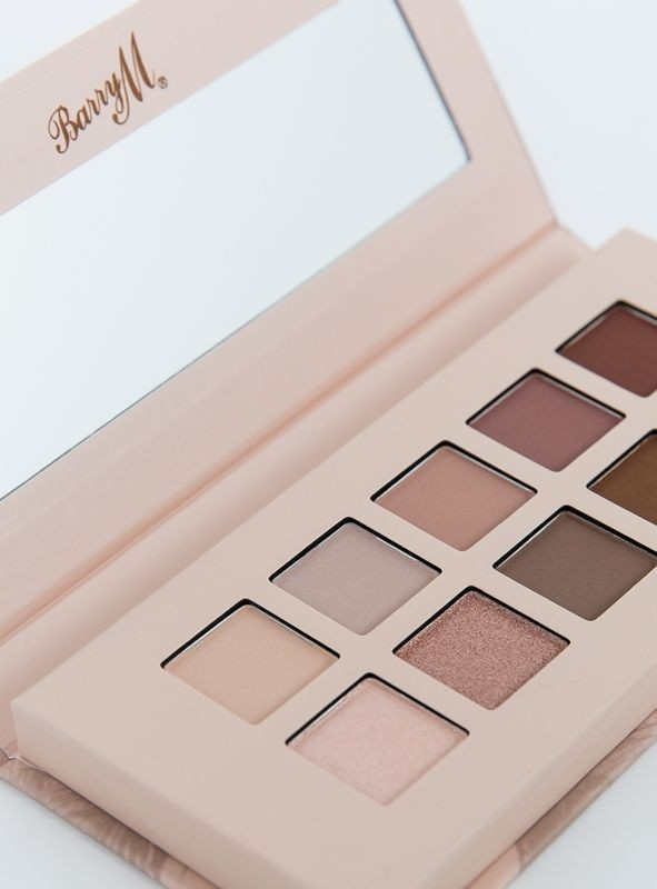 BarryM nude eyeshadow palette, with mirror, on a white background