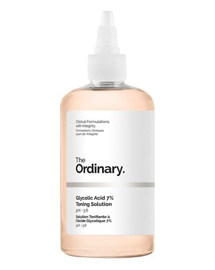 the ordinary bottle with glycolic acid toning solution.