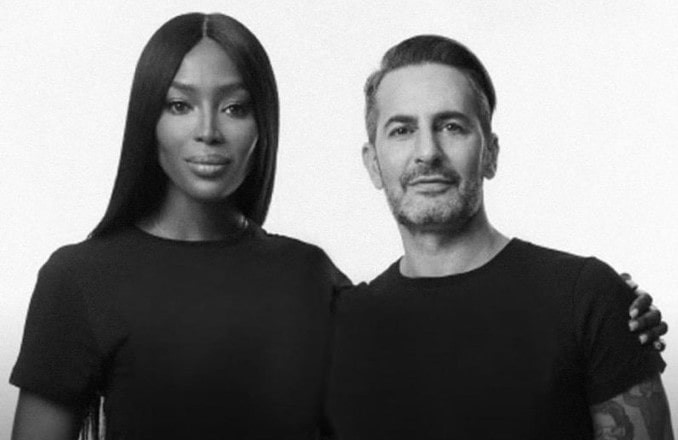 Best Makeup Tutorials: Marc Jacobs pictured with Naomi Campbell.