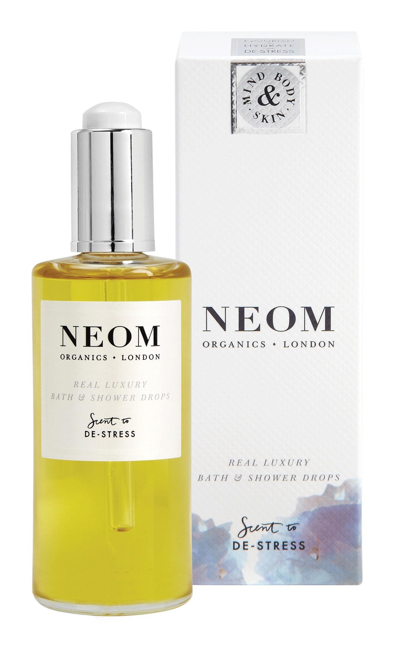 Perfect for a Spa Day: Neom De Stress Scent Bath Oil.