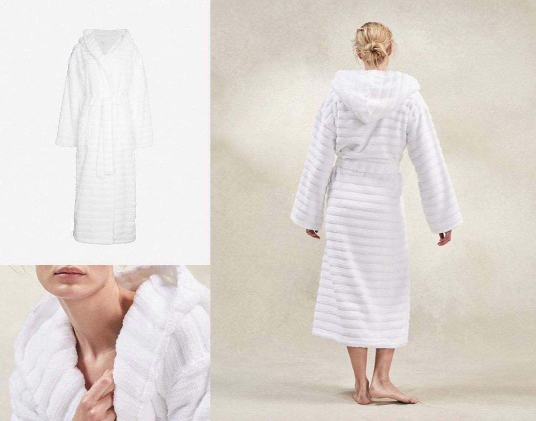the white company, dressing gown, pictured being wore by model also.