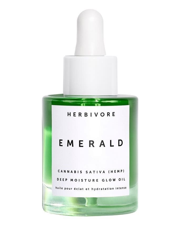 herbivore emerald cannabis sativa hemp deep moisture glow oil.