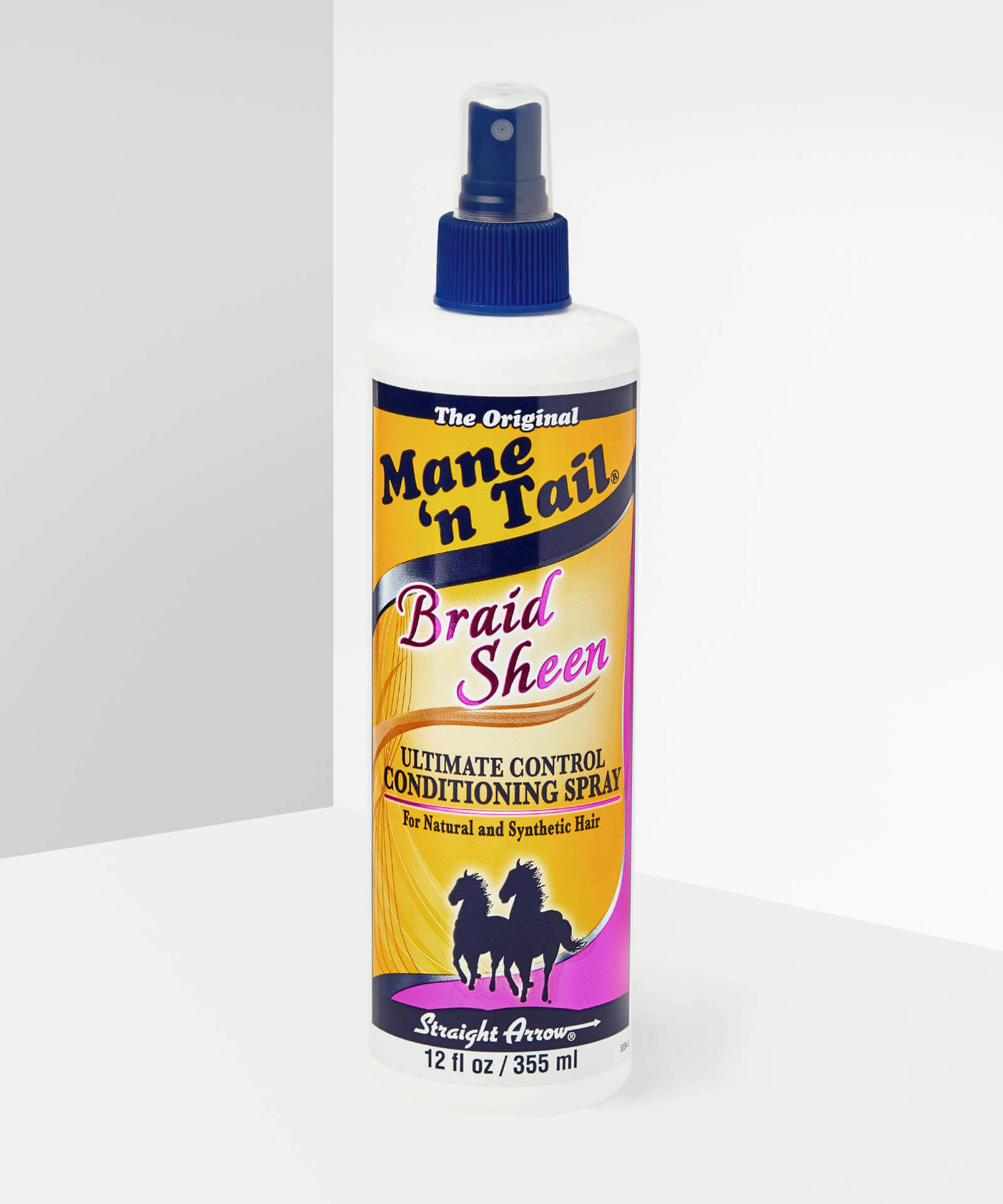mane n tail braid sheen bottle.